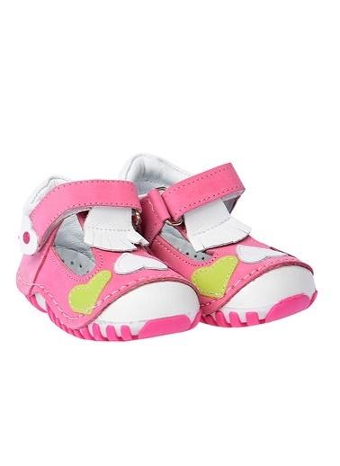 Kiko Kids Kiko Kids Teo 105 %100 Deri Orto pedik Cırtlı Kız Çocuk Ayakkabı Pembe